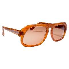 New Vintage Rare Pierre Cardin Honey Tortoise Brown Solid Lens 1960's sunglasses