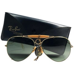 New Vintage Rare Ray Ban  Shooter 65Mm G15 Large Lenses  B&L Sunglasses Frame