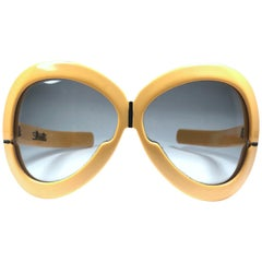 New Vintage Rare Silhouette Futura 561 Ochre Collector Item 1970 Sunglasses