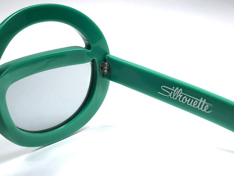 Women's or Men's New Vintage Rare Silhouette Futura 562 Green Collector Item 1970 Sunglasses  For Sale