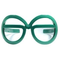 New Vintage Rare Silhouette Futura 562 Green Collector Item 1970 Sunglasses