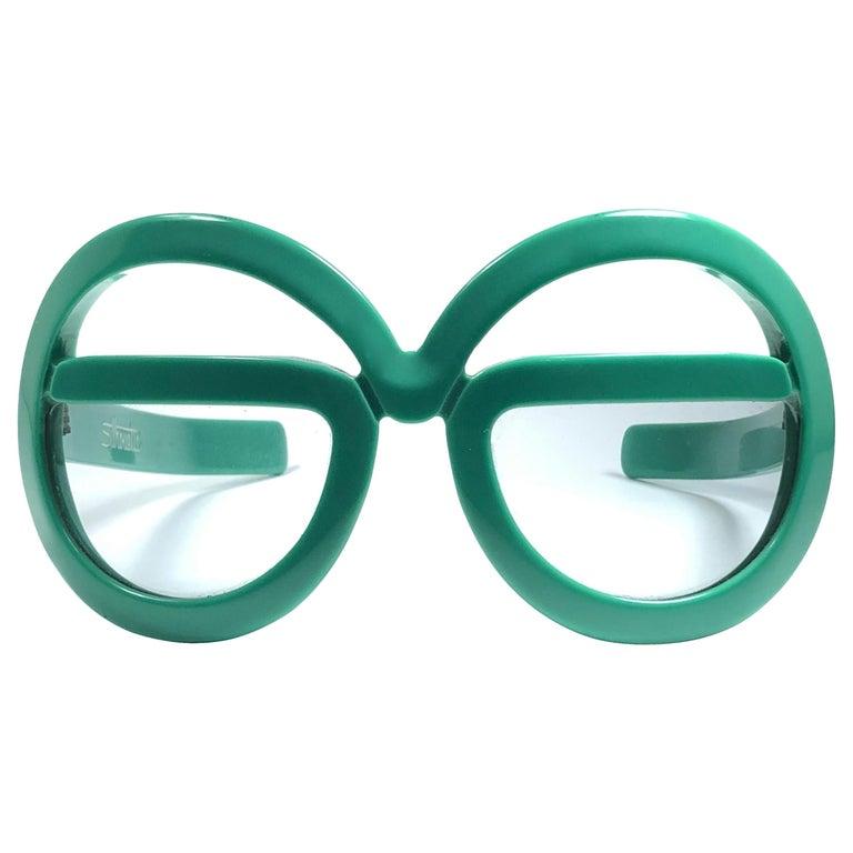 New Vintage Rare Silhouette Futura 562 Green Collector Item 1970 Sunglasses  For Sale
