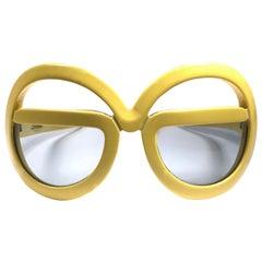 New Vintage Rare Silhouette Futura 562 Yellow Collector Item 1970 Sunglasses