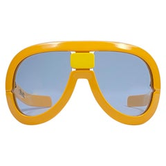 New Vintage Rare Silhouette Futura 563 Yellow Collector Item 1970 Sunglasses