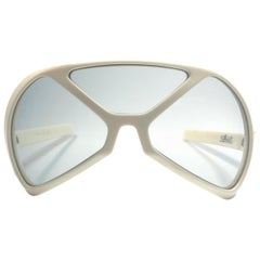 New Vintage Rare Silhouette Futura 570 White Collector Item 1970 Sunglasses