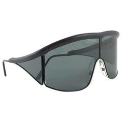 New Vintage Rare Sports Alpina 845 Grey Lens 1980's Sunglasses