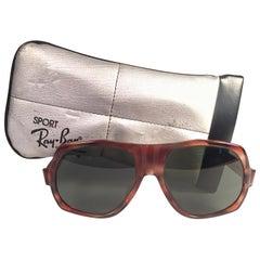 New Vintage Ray Ban B&L Bradshaw Tortoise G15 Grey Lenses Sunglasses USA