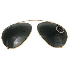 New Vintage Ray Ban B&L Clip On For Aviator 62mm Sunglasses Collectors Item USA