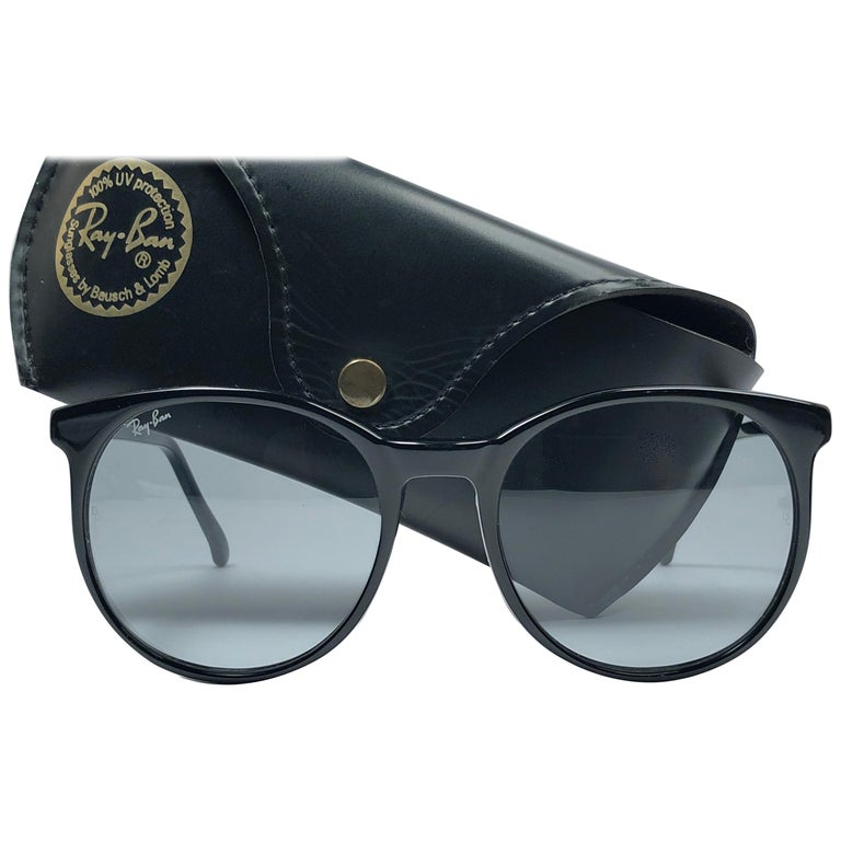9c5c62e0a8 New Vintage Ray Ban B L Style C Black Oversized Grey Changeable Lens  Sunglasses For Sale