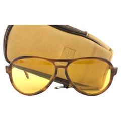 New Vintage Ray Ban B&L Vagabond Tortoise Ambermatic Lenses Sunglasses USA