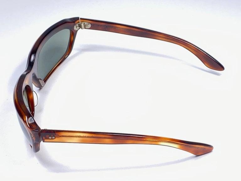 Women's or Men's New Vintage Ray Ban Chalet 1960's Mid Century G15 Lenses USA Sunglasses For Sale
