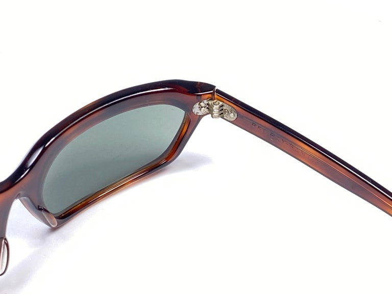 New Vintage Ray Ban Chalet 1960's Mid Century G15 Lenses USA Sunglasses For Sale 1