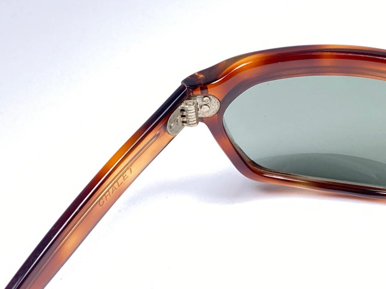 New Vintage Ray Ban Chalet 1960's Mid Century G15 Lenses USA Sunglasses For Sale 2