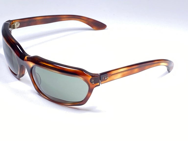 New Vintage Ray Ban Chalet 1960's Mid Century G15 Lenses USA Sunglasses For Sale 3