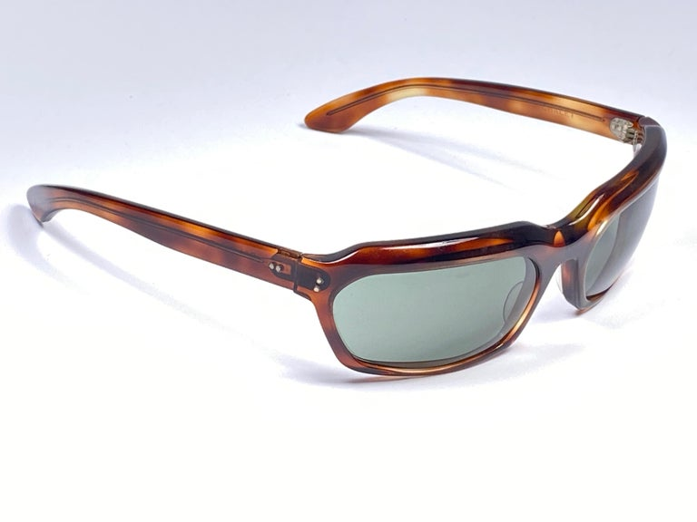 New Vintage Ray Ban Chalet 1960's Mid Century G15 Lenses USA Sunglasses For Sale 4