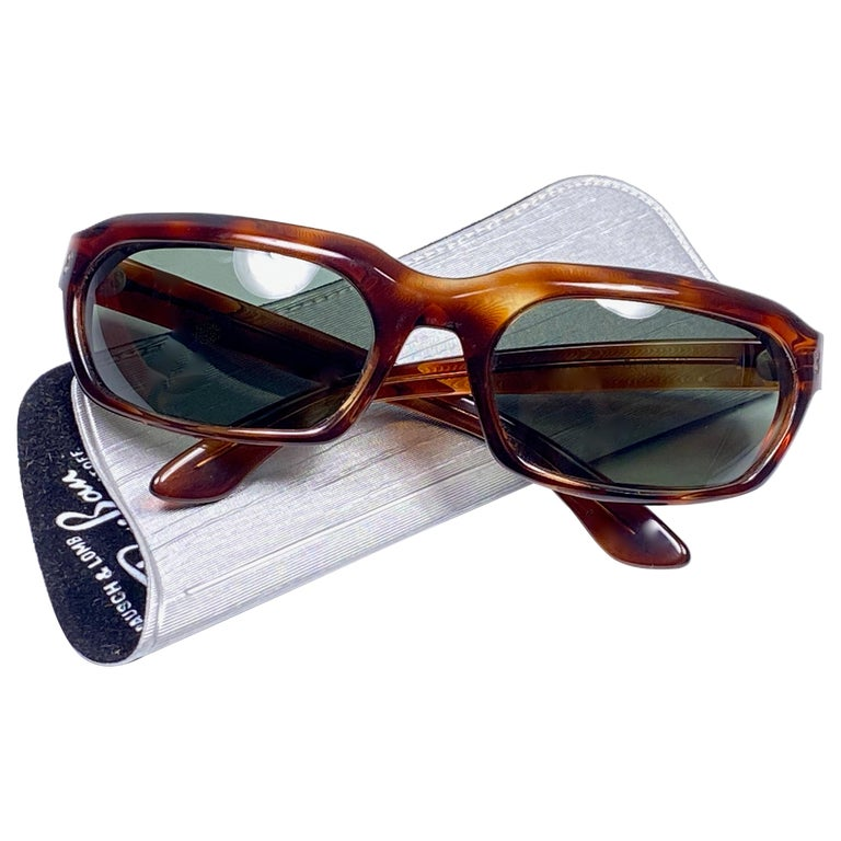 New Vintage Ray Ban Chalet 1960's Mid Century G15 Lenses USA Sunglasses For Sale