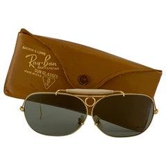 New Vintage Ray Ban Decot 10 K Gold 62Mm G15 Lenses 1970's B&L Sunglasses