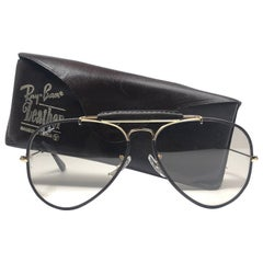New Vintage Ray Ban Leathers Outdoorsman 58Mm Chocolate Changeable Sunglasses
