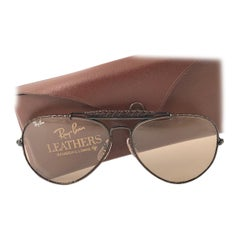New Vintage Ray Ban Leathers Outdoorsman 62Mm Woven Changeable Sunglasses