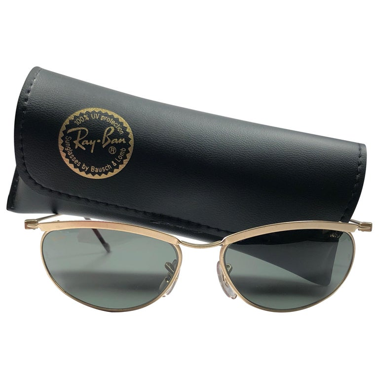 d450b661f4319 New Vintage Ray Ban Olympian Matte Gold G15 Grey Lenses 1980 s B L  Sunglasses ...