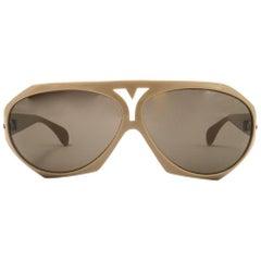 New Vintage Renauld for Yves Saint Laurent YSL Bug Eye 1980 France Sunglasses