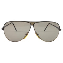New Vintage Safilo Airline 1 Copper Aviator 80's Sunglasses Made in Italy