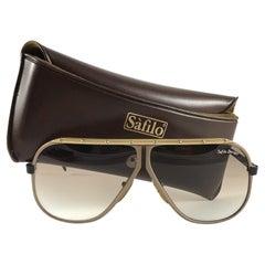 New Vintage Safilo Design 1 172 Copper Mate Aviator 80's Sunglasses Madein Italy
