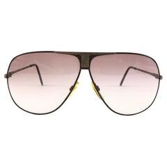 New Vintage Safilo Sporting 113 Burgundy Aviator 80's Sunglasses Made in Italy