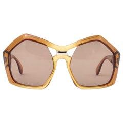 New Vintage Sapphira Oversized Two Tone Brown Lenses Sunglasses