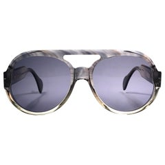 New Vintage Serge Kirchhofer Translucent  Mod 407 Oversized Sunglasses Austria