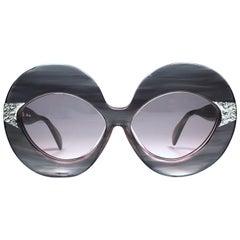 New Vintage Serge Kirchhofer Translucent  Mod 469 Oversized Sunglasses Austria