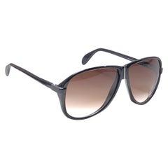 New Vintage Silhouette 4005 Black & Silver 1980's Sunglasses