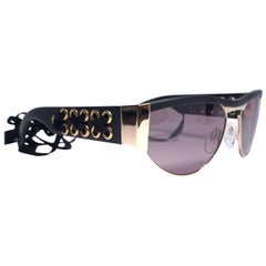 New Vintage Silhouette Corset Iconic Purple Lenses 1980's Sunglasses