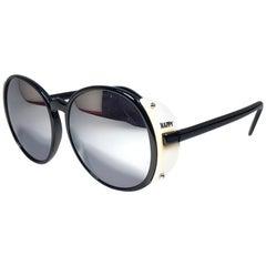 New Vintage Silhouette M3053 C Black & White 1980's Sunglasses