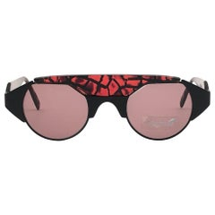 New Vintage Silhouette M9705 Mosaic Red 1980's Sunglasses Made in Austria