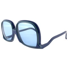 New Vintage Silhouette Mod 64 Blue & Green Funk Germany 1980 Sunglasses