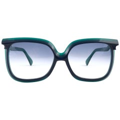 New Vintage Silhouette Mod 70 Blue & Green Funk Germany 1980 Sunglasses