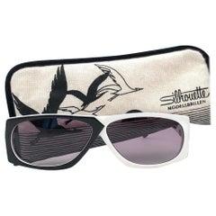 New Vintage Silhouette MOD3038 Black & White 1980's Sunglasses