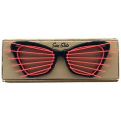New Vintage Sun Slatz Shutter Shades Sunglasses 1950's Made in France