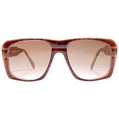 "New Vintage Ultra "" GOLIATH III "" Tortoise British Hand Made 1980's Sunglasses"