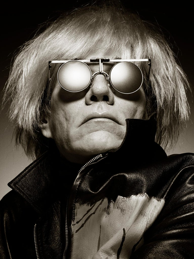 Extremely rare and highly coveted I'dentity frame. The iconic model worn by Andy Warhol and photographed by the great Albert Watson in the cover of Manner Vogue in June 1987, designed specially for the pop artist in 1986 only six pieces were made.