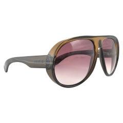 New Vintage Viennaline 1118 Translucent Amber Oversized Sunglasses Germany 1980