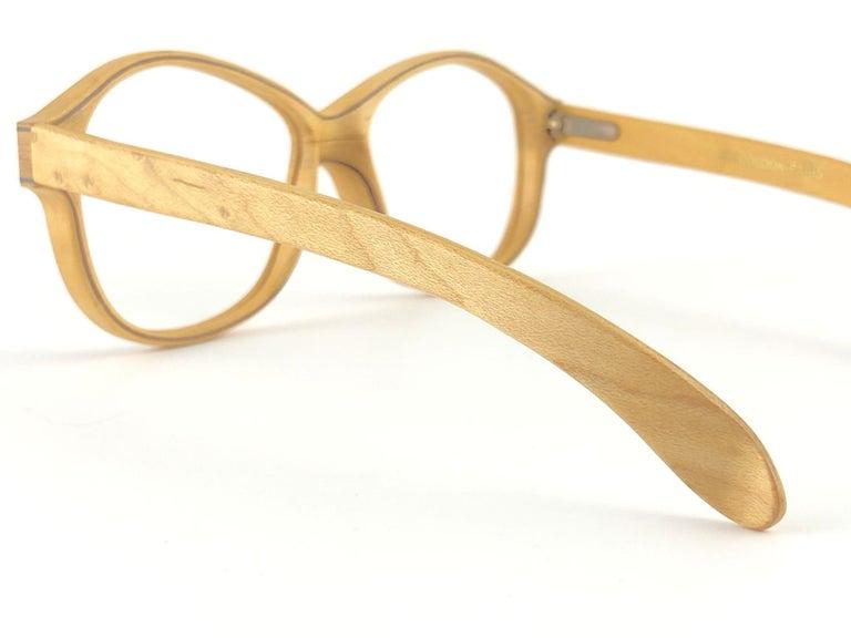 New Vintage Woodlook 132 B Genuine Wood RX Spring Hinge 1980's Made In France For Sale 1