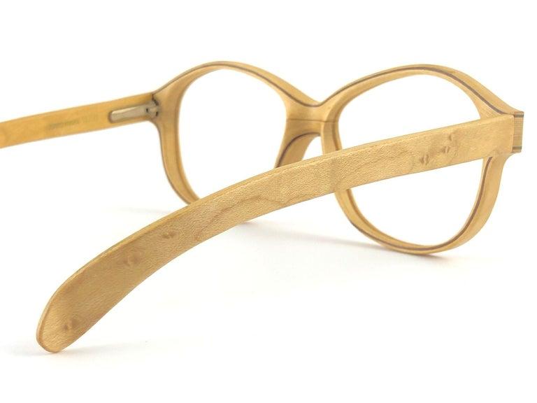 New Vintage Woodlook 132 B Genuine Wood RX Spring Hinge 1980's Made In France For Sale 2