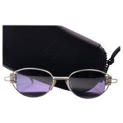 New Vintage Yohji Yamamoto 52 4103 Matte Silver  1990's Made in Japan Sunglasses
