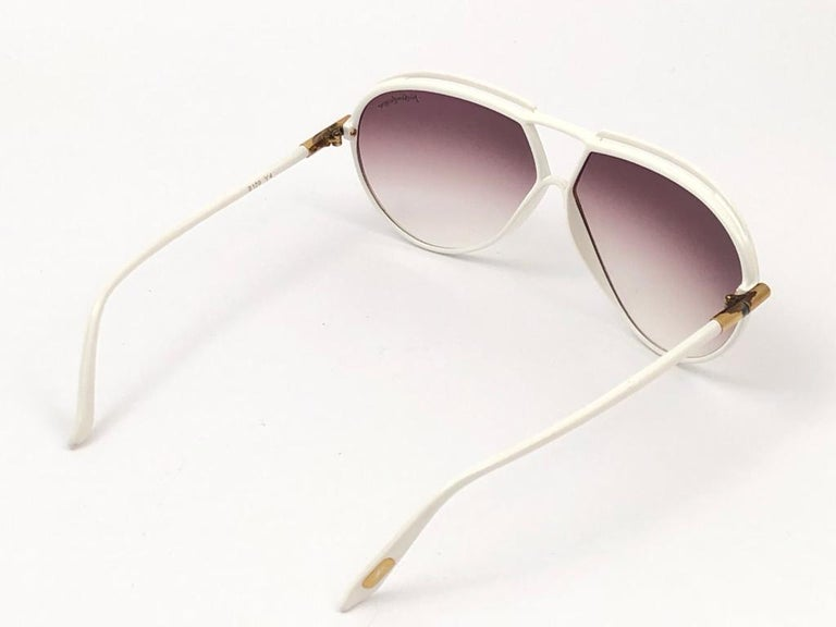 New Vintage Yves Saint Laurent YSL 8129 1980 Made in France Sunglasses For Sale 3