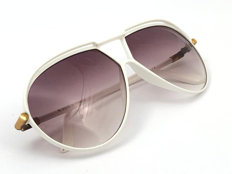 New Vintage Yves Saint Laurent YSL 8129 1980 Made in France Sunglasses For Sale 4