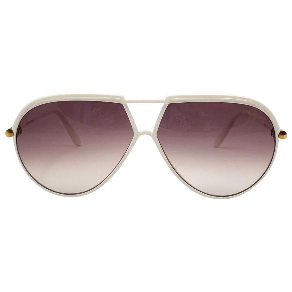 New Vintage Yves Saint Laurent YSL 8129 1980 Made in France Sunglasses
