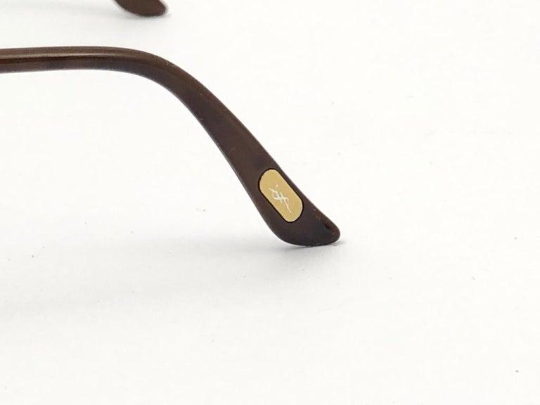 Men's New Vintage Yves Saint Laurent YSL WINGS 8403 Oversized  1980 France Sunglasses For Sale