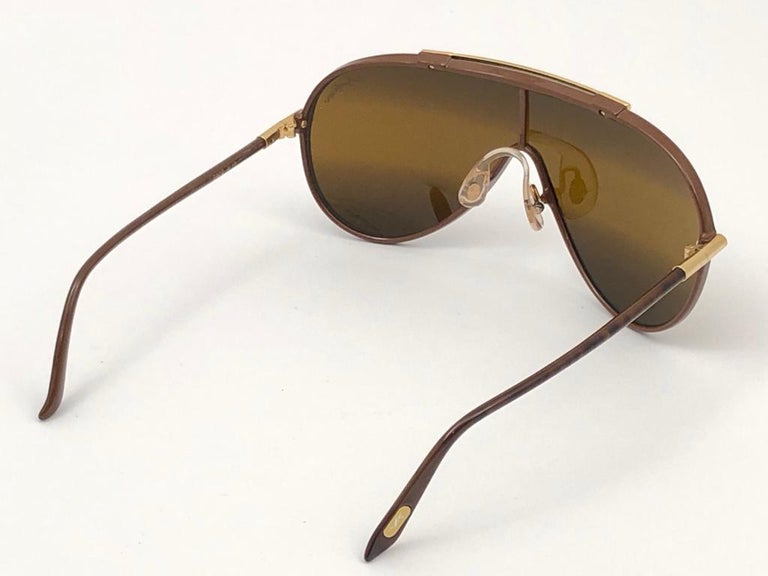 New Vintage Yves Saint Laurent YSL WINGS 8403 Oversized  1980 France Sunglasses For Sale 2